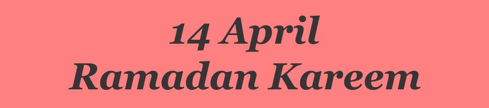14 April 2021